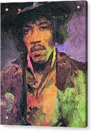 Jimi Hendrix Painting Acrylic Print