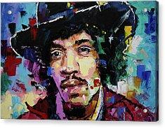 Jimi Hendrix Portrait II Acrylic Print by Richard Day