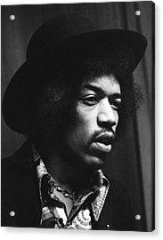 Jimi Hendrix Profile 1967 Acrylic Print