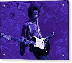 Jimi Hendrix Purple Haze Acrylic Print by David Dehner
