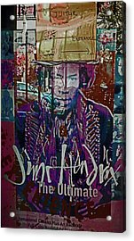Jimi Hendrix - Ultimate Legend Acrylic Print by Walter Fahmy