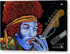 Jimi In Thought Acrylic Print by Nannette Harris