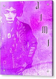 Jimi Purple Haze Acrylic Print