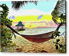 Jimmy Buffett's Margaritaville Acrylic Print by Charles Shoup