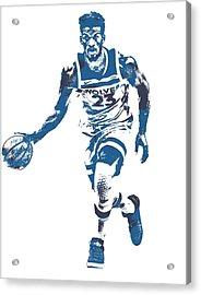 Jimmy Butler Minnesota Timberwolves Pixel Art 5 Acrylic Print
