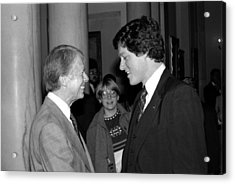 Jimmy Carter And Bill Clinton - White House - 1978 Acrylic Print