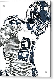 Jimmy Graham Seattle Seahawks Pixel Art 2 Acrylic Print by Joe Hamilton