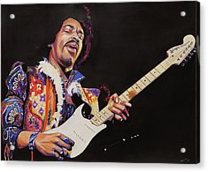 Jimmy Hendrix Acrylic Print by Chris Benice