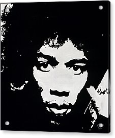 Jimmy Hendrix Acrylic Print by Leeann Stumpf
