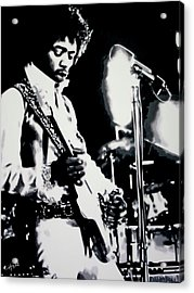 Jimmy Hendrix Purple Haze Acrylic Print