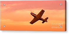 Jimmy Leeward And The Galloping Ghost Into The Sunset Acrylic Print