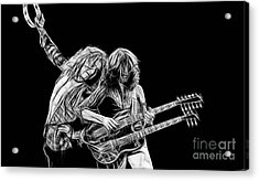 Jimmy Page And Robert Plant Collection Acrylic Print by Marvin Blaine