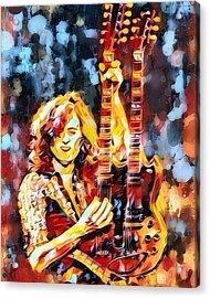 Jimmy Page Abstract  Acrylic Print by Scott Wallace