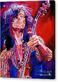 Jimmy Page Acrylic Print by David Lloyd Glover