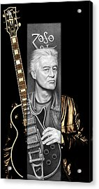 Jimmy Page Drawing Acrylic Print