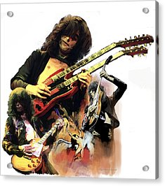 Jimmy Page  Echoes Of Pompeii Acrylic Print by Iconic Images Art Gallery David Pucciarelli