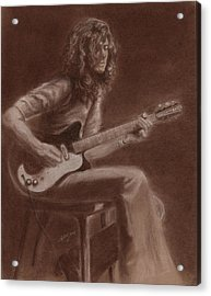Jimmy Page Acrylic Print by Kathleen Kelly Thompson