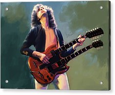 Jimmy Page  Stairway  Acrylic Print
