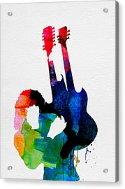 Jimmy Watercolor Acrylic Print by Naxart Studio