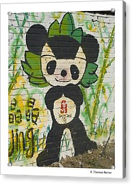 Acrylic Print featuring the photograph Jing Jing by R Thomas Berner