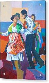 Jing Ping Dance  Acrylic Print