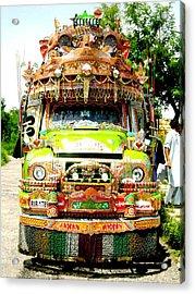 Jingly Bus Acrylic Print