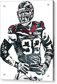 Jj Watt Houston Texans Pixel Art 5 Acrylic Print by Joe Hamilton