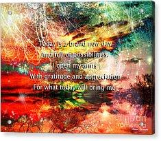 Acrylic Print featuring the digital art Gratitude by Atousa Raissyan