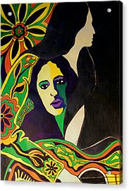 Joan Baez In The Psychodelic Age Acrylic Print