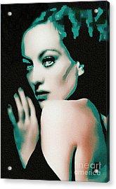 Joan Crawford - Pop Art Acrylic Print by Ian Gledhill