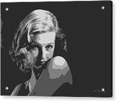 Joan Geraldine Bennett Acrylic Print by Maciek Froncisz