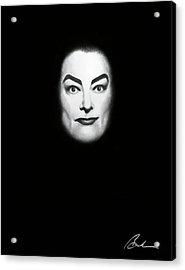 Joan In Black Acrylic Print