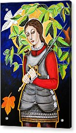 Joan Of Arc Acrylic Print by Christina Miller