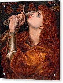 Joan Of Arc Acrylic Print by Dante Gabriel Rossetti