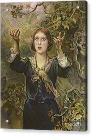 Joan Of Arc Acrylic Print by James Sant
