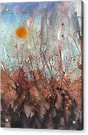 Joan Of Arc Mob And Fire Acrylic Print by Thomas Armstrong