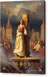 Joan Of Arc's Death At The Stake Acrylic Print by Hermann Anton Stilke