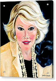 Joan Rivers Acrylic Print