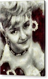 Joan Sims, Carry On Actress Acrylic Print by John Springfield