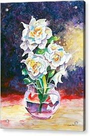 Joan's Gardenias Acrylic Print by Michael Prout