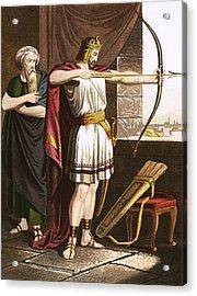 Joash Shooting Arrows At The Command Of Elisha Acrylic Print by English School