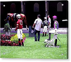 Acrylic Print featuring the digital art Jockeys Painting by  Newwwman