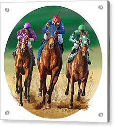 Jockeys Acrylic Print by Valer Ian