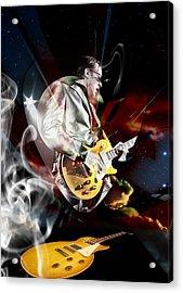Joe Bonamassa Blue Guitarist Acrylic Print by Marvin Blaine