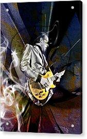 Joe Bonamassa Blues Guitarist Acrylic Print by Marvin Blaine