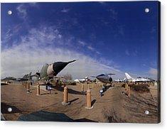 Joe Davies Heritage Airpark Palmdale Acrylic Print by Brian Lockett