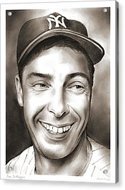 Joe Dimaggio Acrylic Print by Greg Joens