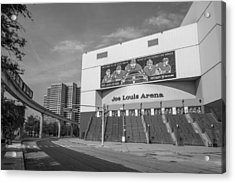 Joe Louis Arena Black And White  Acrylic Print
