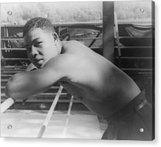 Joe Louis, At Greenwood Lake N.y Acrylic Print by Everett