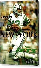 Joe Namath, Broadway Joe, New York Jets Acrylic Print